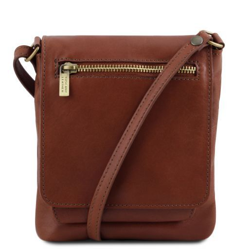 Sasha Unisex Soft Leather Messenger Bag_8