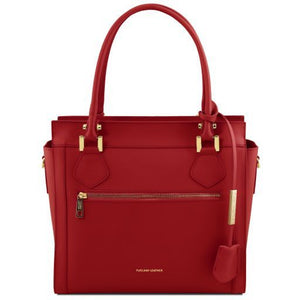 Lara Smooth Leather Satchel _1