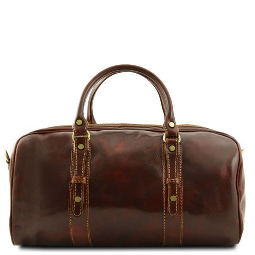 Francoforte - Exclusive Leather Weekender Travel Bag - Small size_3