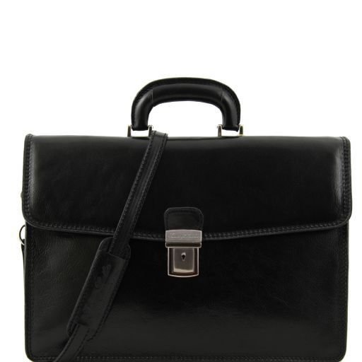 Amalfi Vegetable Tanned  Leather Briefcase_1