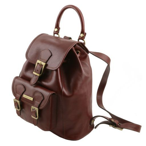 Kobe  Vegetable Tanned Leather Backpack_5