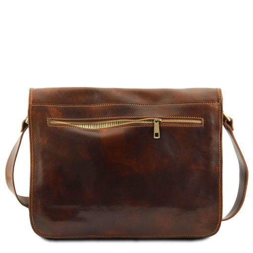 Vegetable Tanned Leather Messenger Bag_4