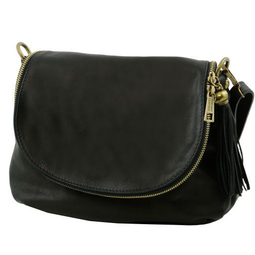 TL Soft Leather Shoulder Bag with Tassel_18