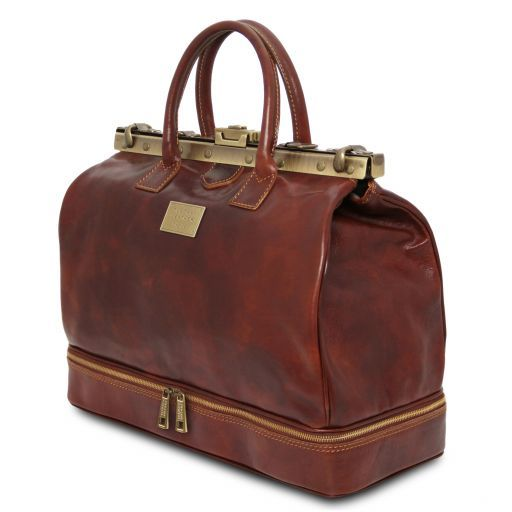 Barcellona - Double-bottom Gladstone Leather Bag_2