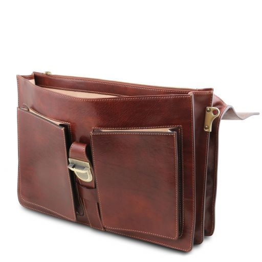 Assisi Vegetable Tanned Leather Briefcase_7