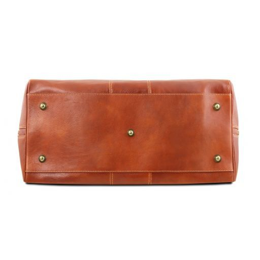 Lisbona - Travel leather duffle bag - Small size_13