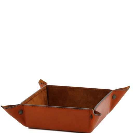 Full Grain Leather Valet Tray Large size_1