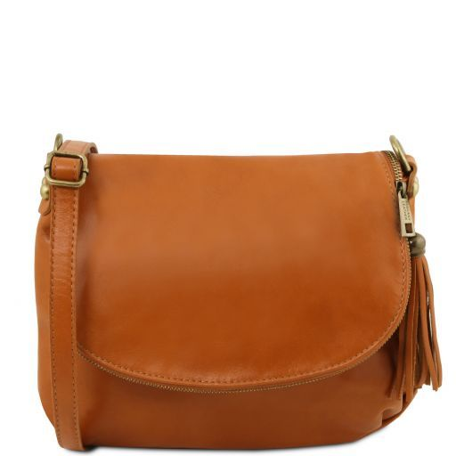 TL Soft Leather Shoulder Bag with Tassel_13