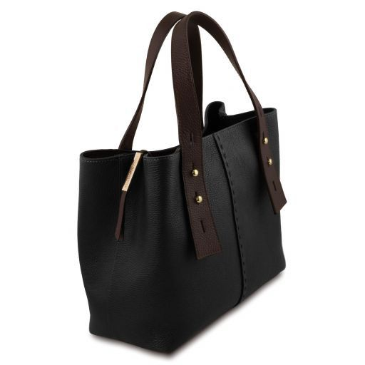 TL Hammered Leather Shopping Tote_24