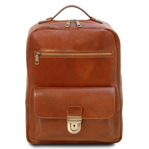 Kyoto Vegetable Tanned Leather Laptop Backpack_12