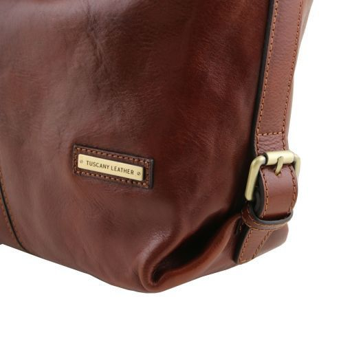 Sabrina Vegetable Tanned Leather Hobo Bag_7