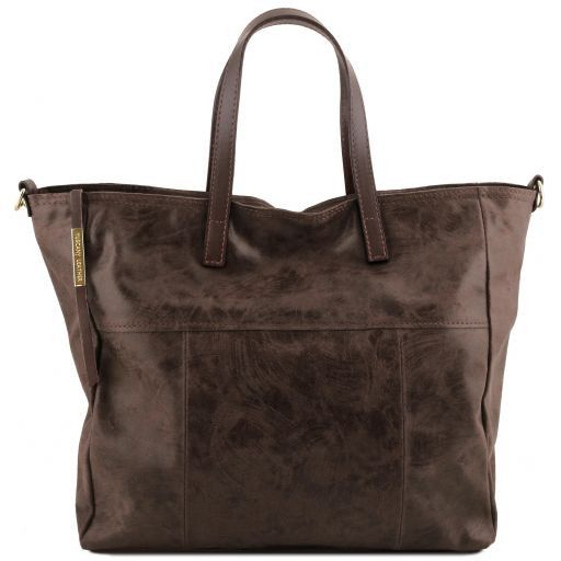 Annie Printed Sued leather TL SMART Tote Bag_8