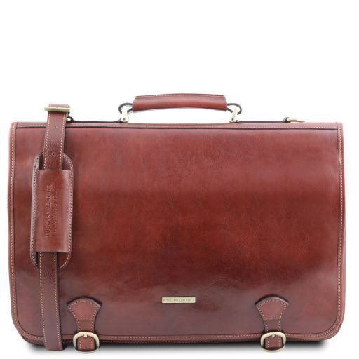 Ancona Vegetable Tanned Leather Messenger Bag_1