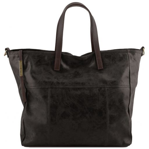 Annie Printed Sued leather TL SMART Tote Bag_1