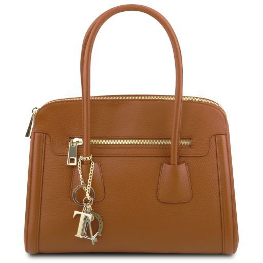 TL KeyLuck Hammered Leather Satchel _1