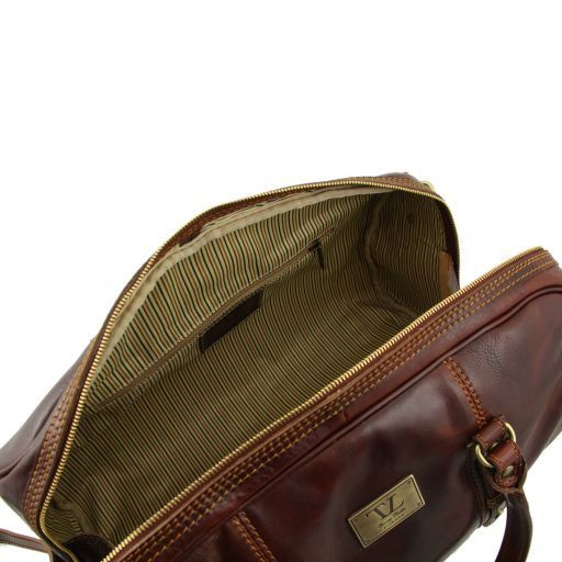 Francoforte - Exclusive Leather Weekender Travel Bag - Large size_6