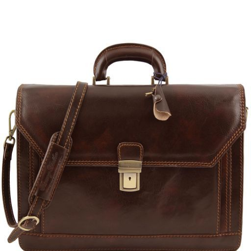 Roma Vegetable Tanned Leather Briefcase_9