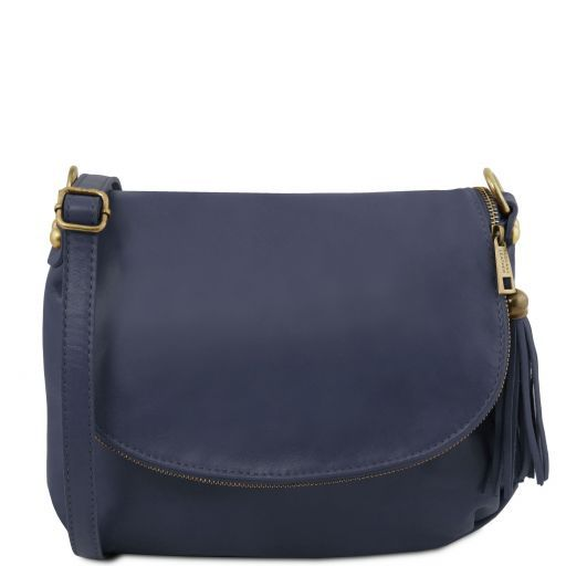 TL Soft Leather Shoulder Bag with Tassel_9