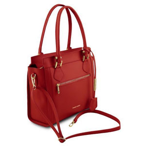 Lara Smooth Leather Satchel _2