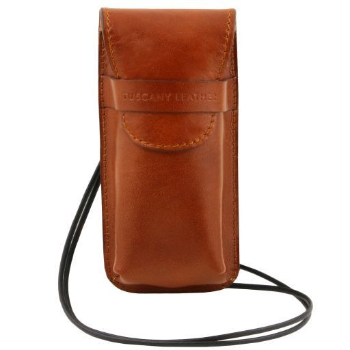 Exclusive Ful GrainLleather eyeglasses/Smartphone holder ( L)_1