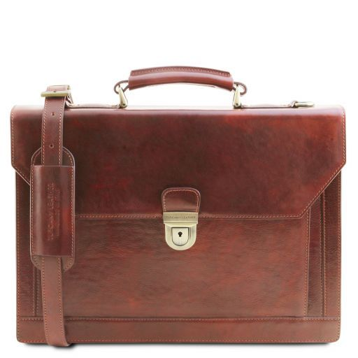 Cremona Vegetable Tanned Leather Briefcase_1