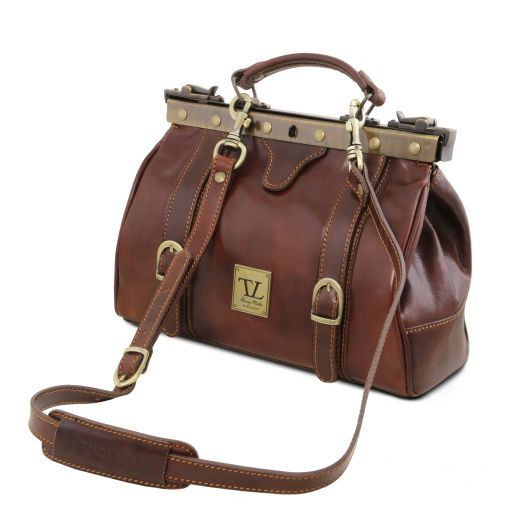 Monalisa Vegetable Tanned Leather Gladstone Doctor bag_4