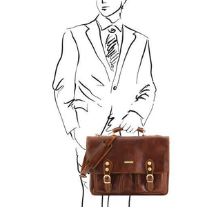 Modena Vegetable Tanned Leather Briefcase_2