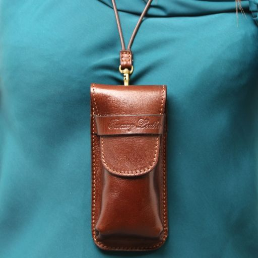 Exclusive Full Grain Leather eyeglasses/Smartphone/Watch holder_9