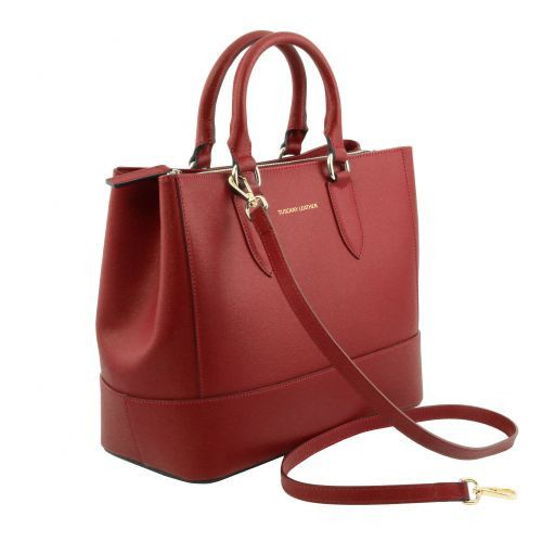 TL Saffiano Leather Satchel _7