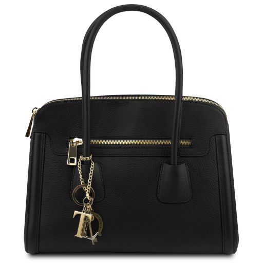 TL KeyLuck Hammered Leather Satchel _11