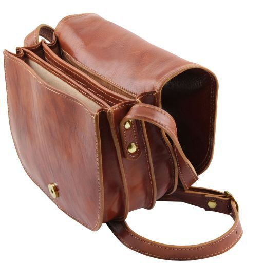 Isabella Vegetable Tanned Leather Shoulder Bag_5