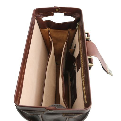 Canova Vegetable Tanned Leather Briefcase 3 compartments_6