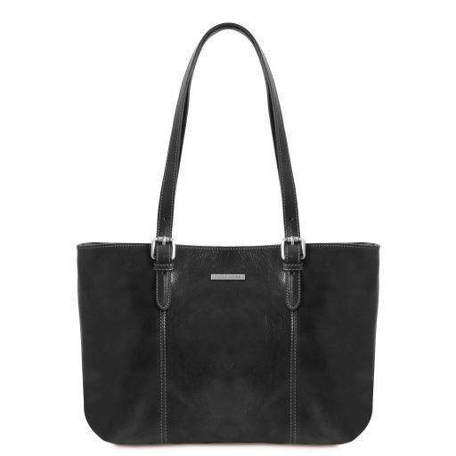 Annalisa Vegetable Tanned Leather Shopping Tote Bag_11
