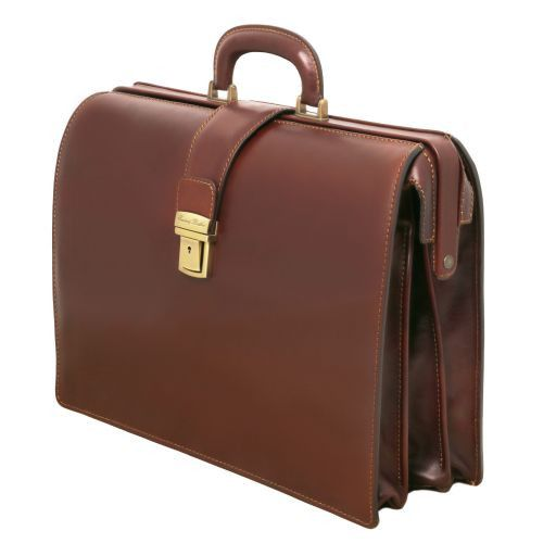 Canova Vegetable Tanned Leather Briefcase 3 compartments_5