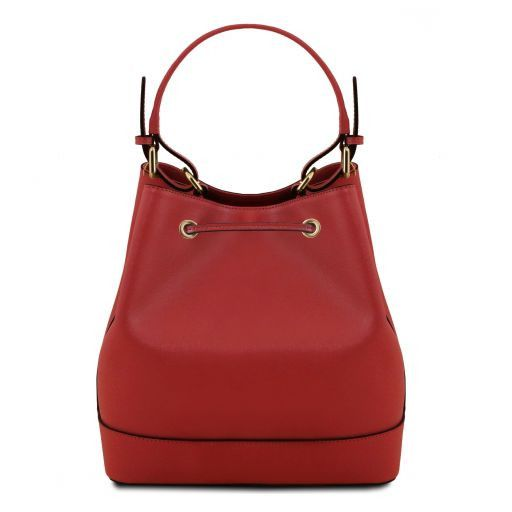 Minerva Saffiano Leather Bucket Bag_3