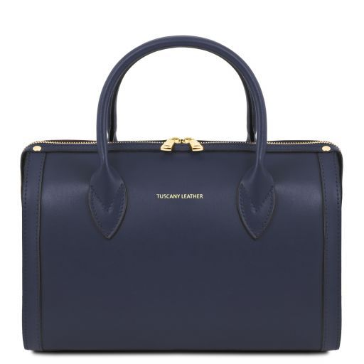 Elena Smooth Leather Boston Bag_13