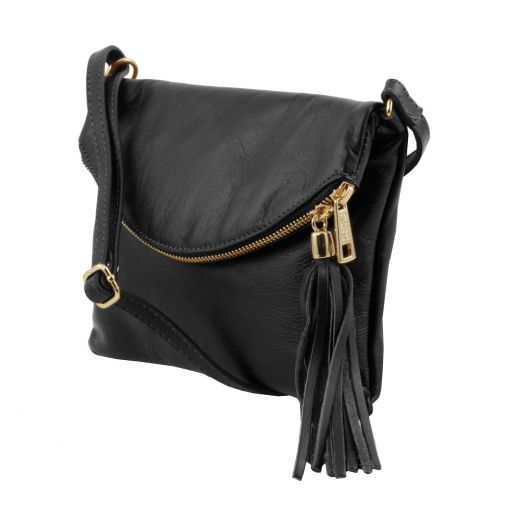 TL Young Soft Leather Shoulder Bag With Tassel_14