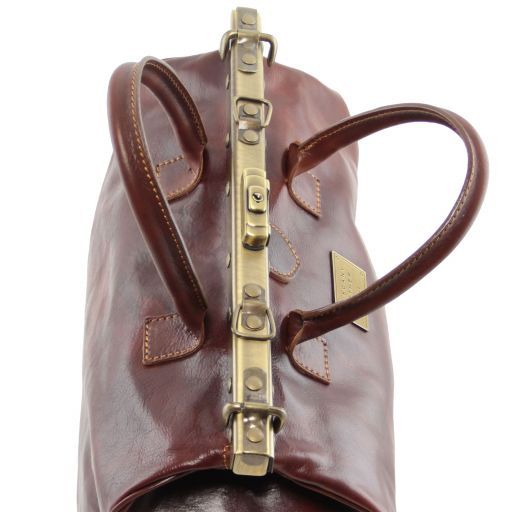 Barcellona - Double-bottom Gladstone Leather Bag_5