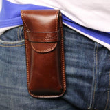 Exclusive Full Grain Leather eyeglasses/Smartphone/Watch holder_8