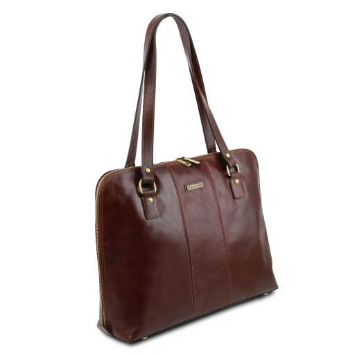 Ravenna Vegetable Tanned Leather Lady Business Bag_3