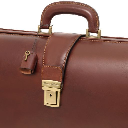 Canova Vegetable Tanned Leather Briefcase 3 compartments_9