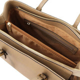 TL Saffiano Leather  Work Tote _9