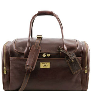 TL Voyager - Travel leather bag with side pockets_1
