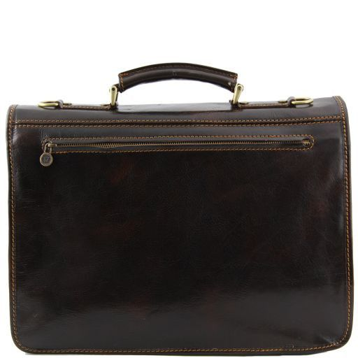 Modena Vegetable Tanned  Leather briefcase - Large size_3