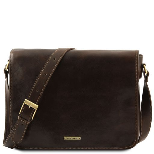 Vegetable Tanned Leather Messenger Bag_1