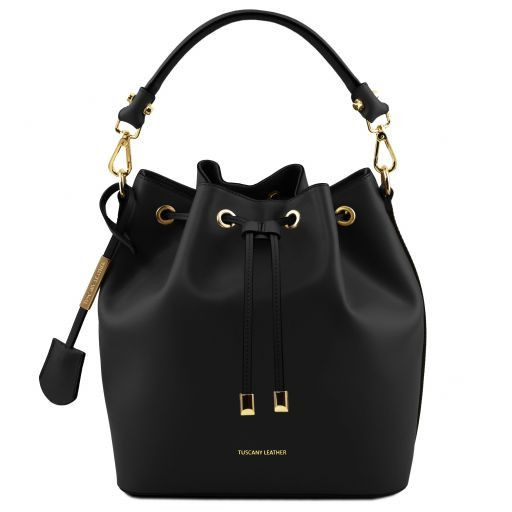 Vittoria Smooth Leather Bucket Bag_13