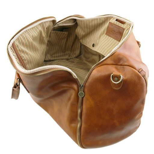 Antigua - Travel leather duffle/Garment bag_5