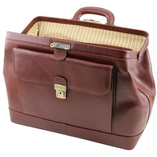Leonardo Vegetable Tanned Leather Doctor bag_8
