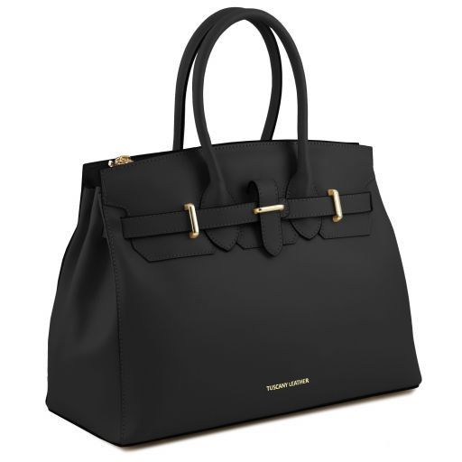 Elettra Smooth Leather Elagent Satchel_12