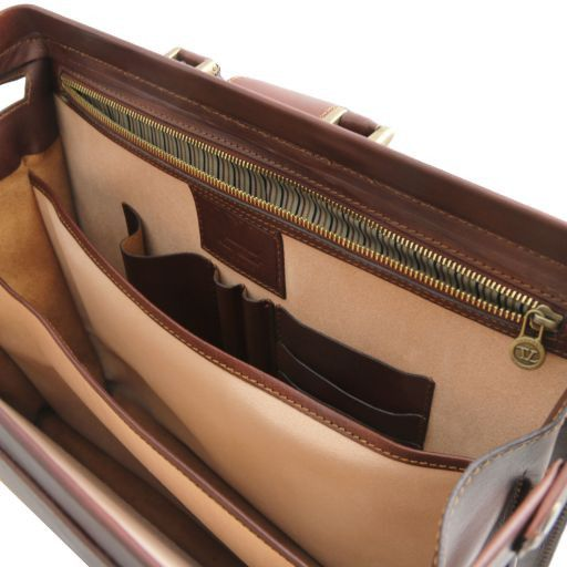 Canova Vegetable Tanned Leather Briefcase 3 compartments_8